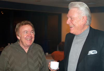 Roy clark and Tommy posing