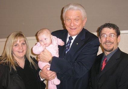 Tommy with Steve and Karen's baby, Jordan