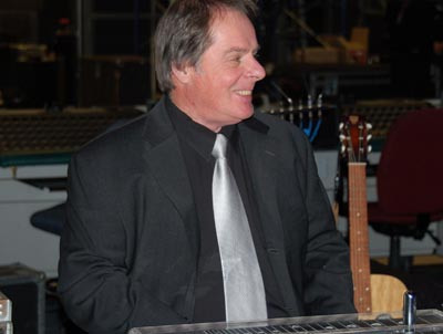 Steve Smith, Tommy's Steel guitar player, smiling