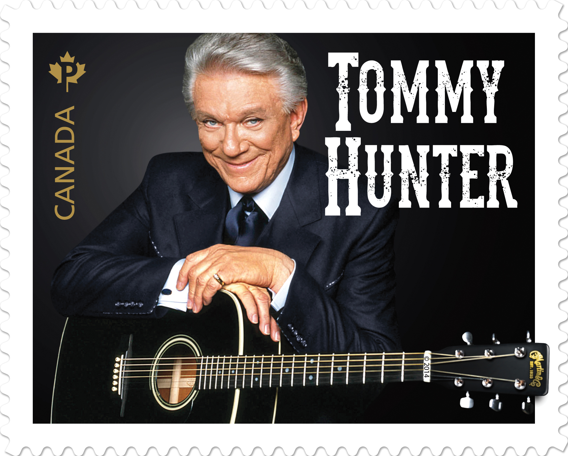 Tommy Hunter's official Canadian stamp