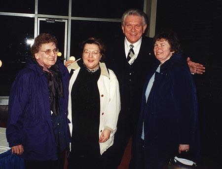 Tommy, Mrs. Buchinski, Esther Buchinski and Sister Joyce Lorentz posing.
